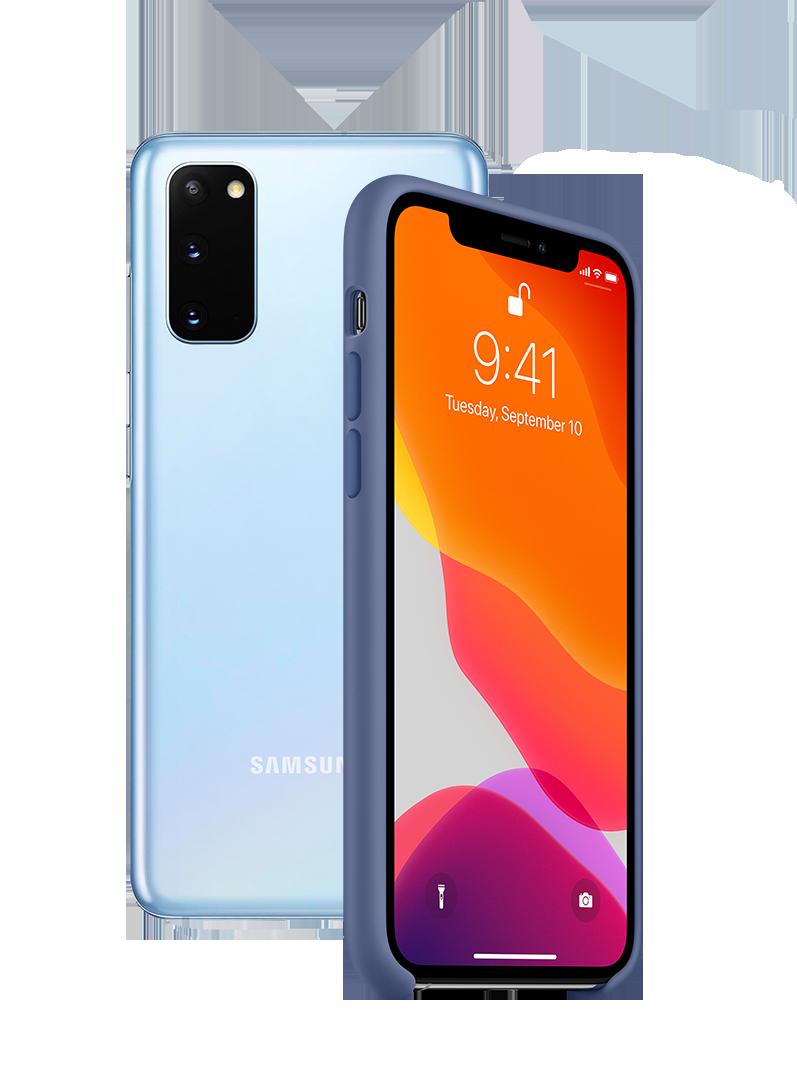 Samsung og Apple_mobil
